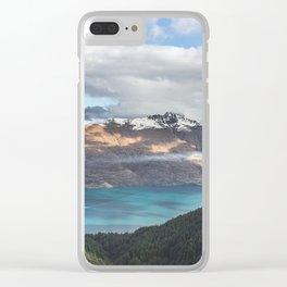 The island cloud ocean Clear iPhone Case