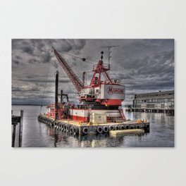 Floating Crane Canvas Print