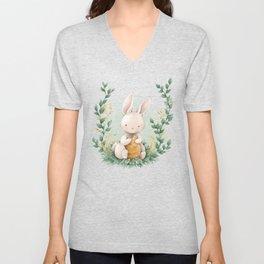 Cute Baby Bunny Unisex V-Neck