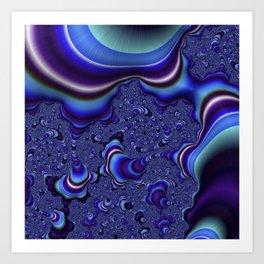 Fractal Art-Blue and Purple Infinity Art Print
