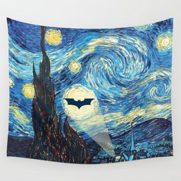 Starry Night Heroes Wall Tapestry
