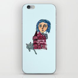 Coraline and Kitty iPhone Skin