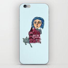 Coraline and Kitty iPhone Skin