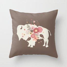 Floral Buffalo Throw Pillow