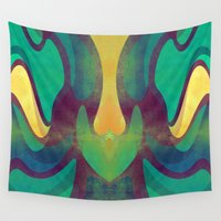 waves Wall Tapestries featuring Waves by VessDSign