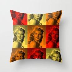 Rita Hayworth Color Throw Pillow