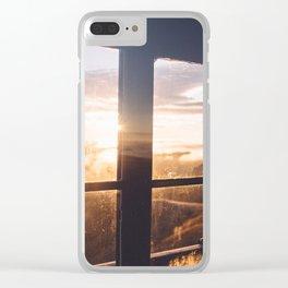 Rainier Sunrise Clear iPhone Case