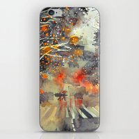 takmaj iPhone & iPod Skins featuring WINTER IN THE CITY by takmaj