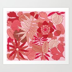 Botanic in Rose Art Print