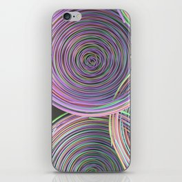Colorful spiraled coils iPhone Skin