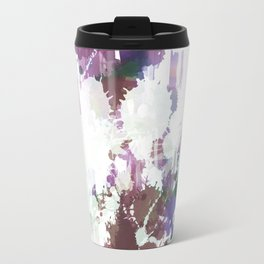 Lavender Mint Splash Abstract Design Travel Mug