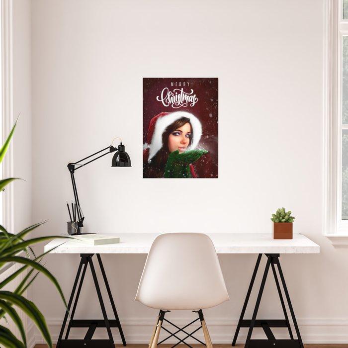 Lady Christmas Poster