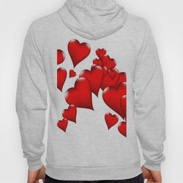 MODERN ART RED VALENTINES HEART  DESIGN Hoody