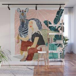 Zebra Hangout Wall Mural