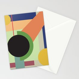 Abstract geometric composition study- Space Stationery Cards