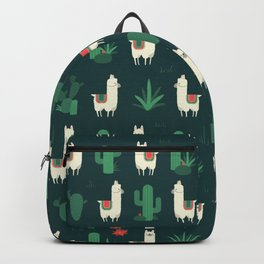 Fleece Navidad and Cactus Backpack