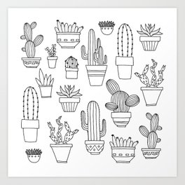Cacti are friends Art Print