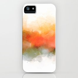 Soft Marigold Pastel Abstract iPhone Case