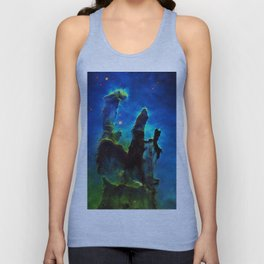 NEbula. : Teal Green Pillars of Creation Unisex Tank Top