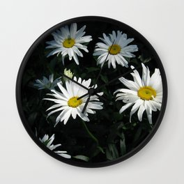 Bunch of Daises Wall Clock