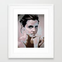 emma watson Framed Art Prints featuring Emma Watson by Sensitive Derais
