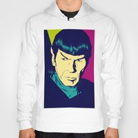 spock Hoodies featuring Spock Logic by Vee Ladwa