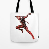 xmen Tote Bags featuring DEADPOOL PAINT SWIRL marvel xmen x-men film movie by Radiopeach