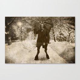 Dark Victorian Portrait: Krampus Canvas Print
