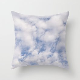 Strato Cumulus Clouds Throw Pillow
