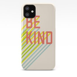 Be Kind typography iPhone Case
