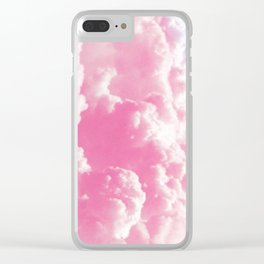 Retro cotton candy clouds Clear iPhone Case