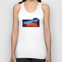 winchester Tank Tops featuring Winchester Hotel by quickreaver