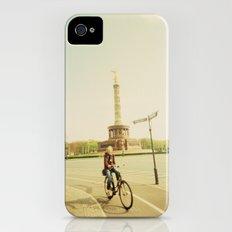 Woman on Bicycle in Berlin iPhone (4, 4s) Slim Case