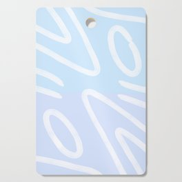 Light Blue abstract Cutting Board