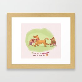 Little neighbor! Pets! Framed Art Print