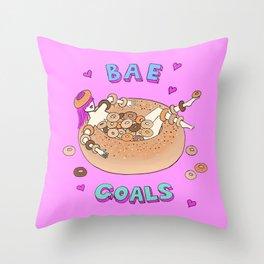 Bae Goals Throw Pillow