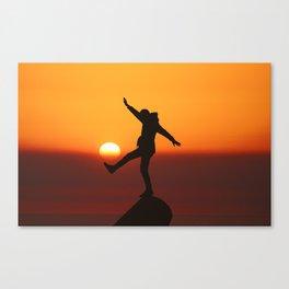 She Kicks the Sun (Color) Canvas Print