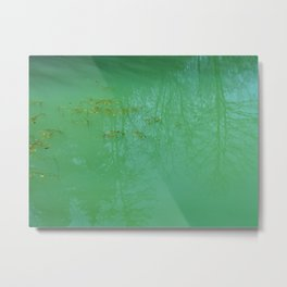 Waterscape - dreamy teal and turquoise water photo Metal Print