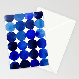 Blue Circles in Watercolor Stationery Cards