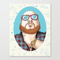 action bronson Canvas Prints featuring Action Bronson by Timothy McAuliffe