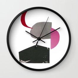 minimalist collage 01 Wall Clock