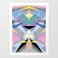 origami Art Prints featuring Origami by Marta Olga Klara