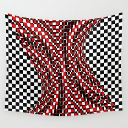black white red 4 Wall Tapestry
