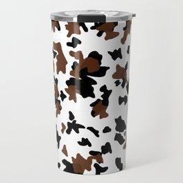 Brown and black . Cow print pattern . Animal print . Pattern trend by Arcos prints Travel Mug