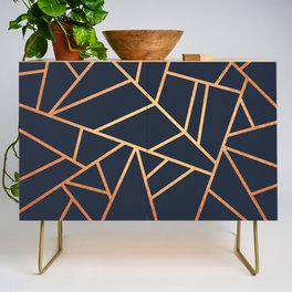 Copper and Midnight Navy Credenza