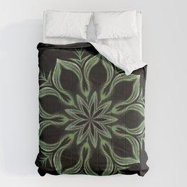 Alien Mandala Swirl Comforters