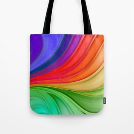 Abstract Rainbow Background Tote Bag