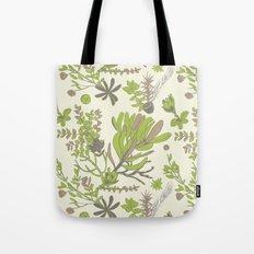 Cream Cradle Flora Tote Bag