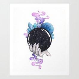 Full of Magic Crystal Ball Art Print
