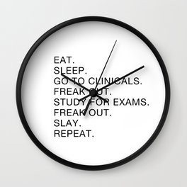 Clinical, Nursing Student, Med Student Wall Clock